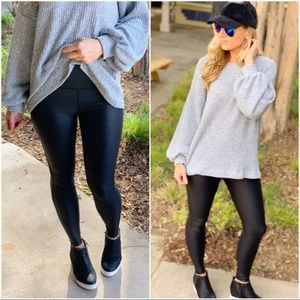 LAST PAIR! Black High Waist Foil Scale Leggings